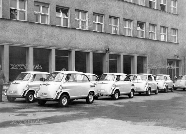 BMW 600 ready for delivery to German Customs Authority in 1957